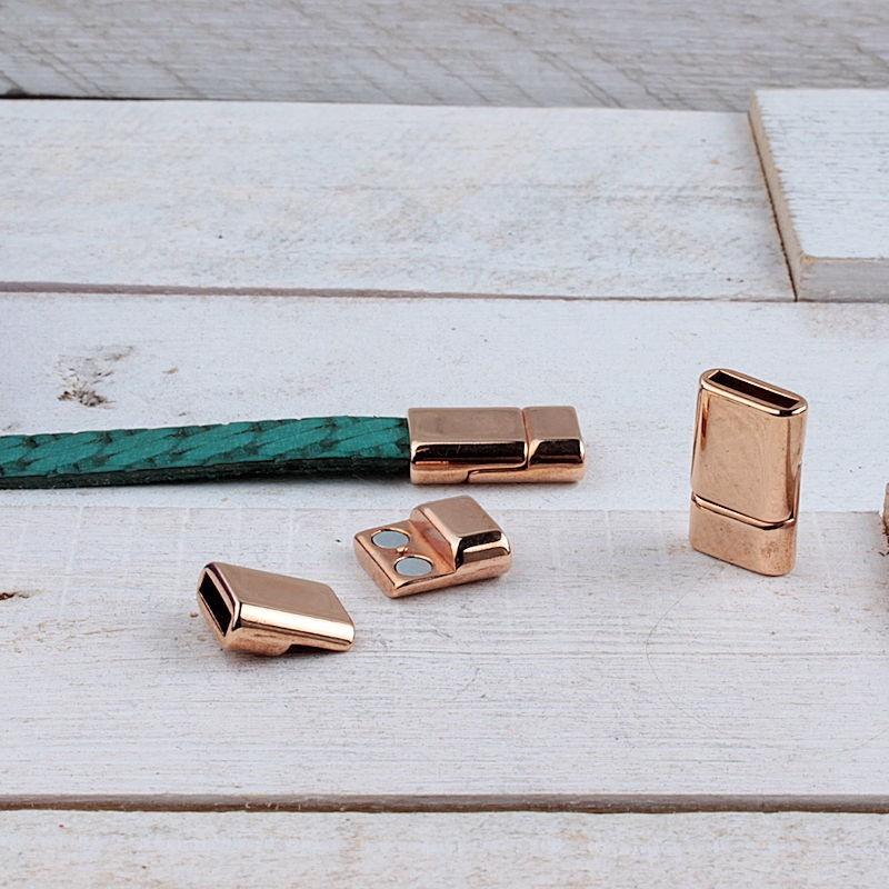 DQ metaal magneetsluiting Rosé Gold (20.5x13mm)DQR75 40% Korting! DQ metaal Rosé Gold/Goud