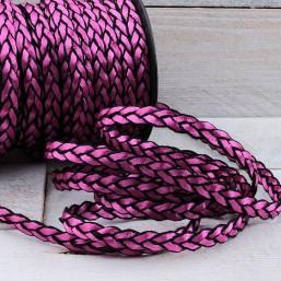 Satijnkoord Pink Plat gevlochten 8mm ZK31 Satijnkoord