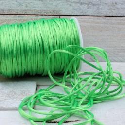 Satijnkoord Neon Groen 2mm ZK11 Satijnkoord