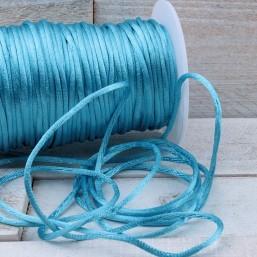 Satijnkoord Licht Blauw 2mm ZK40 Satijnkoord