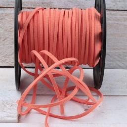 Suede veter zacht oranje SV21 Suede Uni kleuren