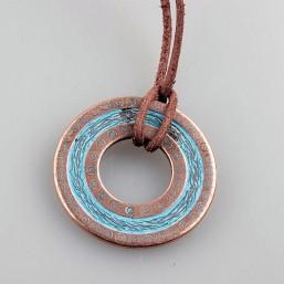 Hanger ring Blue Patina 40mm DQ57 DQ Rosé Gold