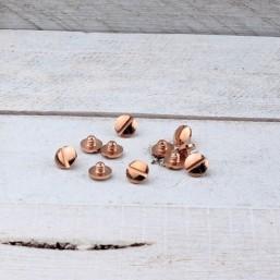 DQ metaal Screw-it schroef kort Rosé GoudDQR65 40% Korting! DQ metaal Rosé Gold/Goud