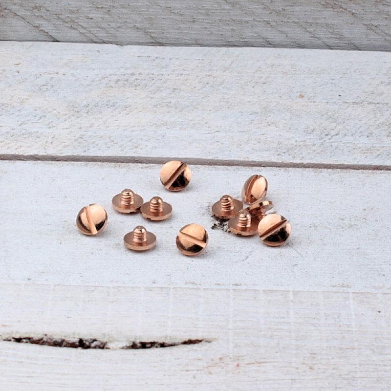 DQ metaal Screw-it schroef kort Rosé Goud DQR65