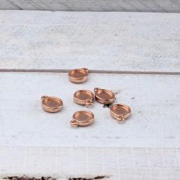 DQ metaal Hanger voor SS34/7mm plaksteen Rose Gold DQ803 DQ Rosé Gold