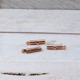 DQ metaal schuif eindkap Rose Gold 15.5mmDQ644 40% Korting! DQ metaal Rosé Gold/Goud
