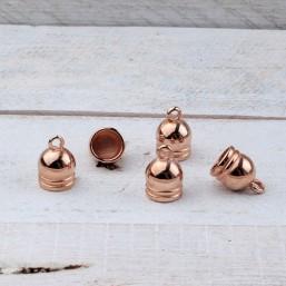 DQ metaal eindkap 8mm Rose GoudDQR40 40% Korting! DQ metaal Rosé Gold/Goud