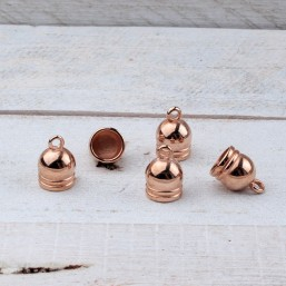 DQ metaal eindkap 8mm Rose Goud DQR40 Rosé Gold assorti