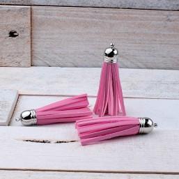 Kwastje Roze imitatie leer 59mm KW34 Kwastjes