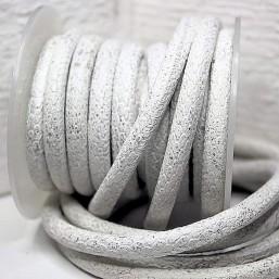 White Silver Snake style 6mm PQ83 Eenzijdig gestikt 6mm-8mm