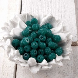 Sparkling Beads Teal green SB07