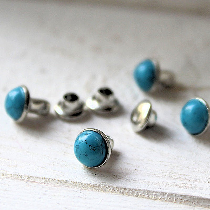 Inslagstud Turquoise 6.5mm INS04