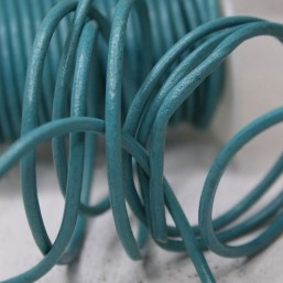 DQ rond leer Turquoise 3mm DQ352