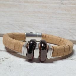 Armband Kurk regaliz met Keramiek en DQ metaal INSPIRATIE Dames armbanden