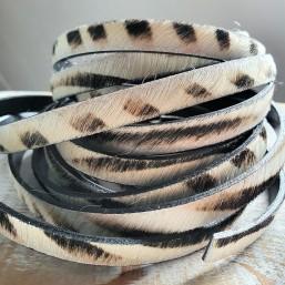 Vachtleer Zebra 10mm Zwart/Wit NL06 Nature Vacht leer