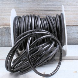 Donker grijs metallic 4mm PQ24 Eenzijdig gestikt 4mm