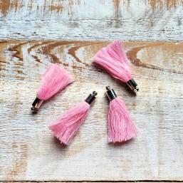 Kwastje Sweet Rose Pink met kapje 38mm KW57 Kwastjes
