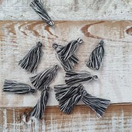 Kwastje Zwart/Wit 25mm KW74 Kwastjes