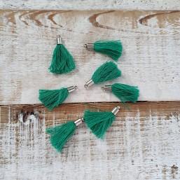 Kwastje Emerald green met kapje 25mm KW76 Kwastjes
