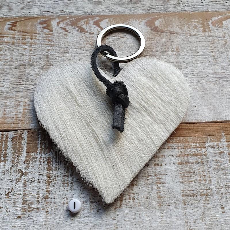 Hartvormige Koeienhuid sleutelhanger HV NIEUW