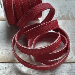 DQ Nature leer 10mm Rood NL45 Nature Vacht leer